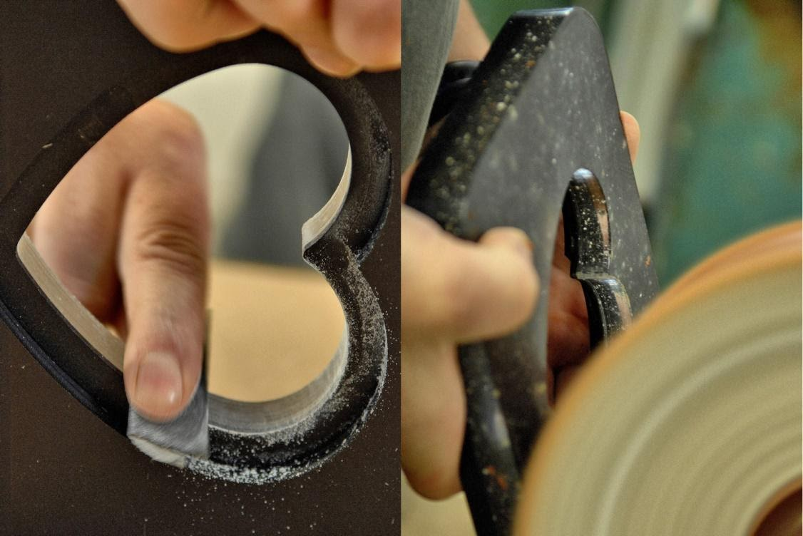 handpolishing the frame